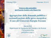 Workshop ENEA Pietrasanta 22 11 11 Verso la città sostenibile