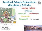Facoltà di Scienze Economiche Giuridiche e Politiche Lingua