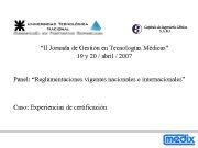 II Jornada de Gestión en Tecnologías Médicas 19