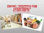 """Theme: """"Shopping for everything"""" Put the words into"""