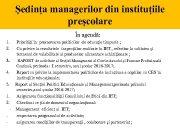 Ședința managerilor din instituțiile preșcolare În agendă 1