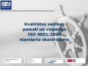 Kvalitātes vadības pamati un vispārīgs ISO 9001 2008