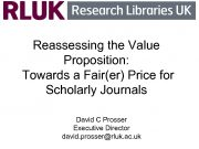 Reassessing the Value Proposition Towards a Fair er Price