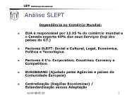 UFP Marketing Internacional Análise SLEPT Dependência no Comércio
