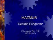 MAZMUR Sebuah Pengantar Pdt Anwar Tjen Ph D