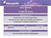 AULA DIGITAL E PLANO DE AULA Produtor a da