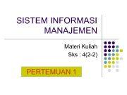 SISTEM INFORMASI MANAJEMEN Materi Kuliah Sks 4 2