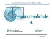 Faculdade de Ciências da Universidade de Lisboa Didáctica