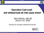 -Unclassified-unclassified- Operation Cast Lead IDF OPERATION IN THE