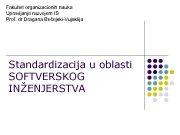 Fakultet organizacionih nauka Upravljanje razvojem IS Prof dr