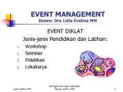 EVENT MANAGEMENT Dosen Dra Lidia Evelina MM EVENT