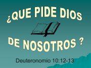 Deuteronomio 10 12 -13 Deuteronomio 10 12