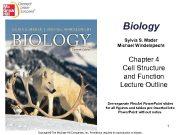 Biology Sylvia S Mader Michael Windelspecht Chapter 4