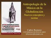 Antropología de la Música en la Globalización Nuevos