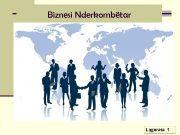 Biznesi Nderkombëtar Ligjerata 1 Kuptimi i Biznesit