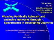 Vikas Nath Founder Digital Governance org Know Net