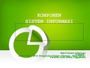 KOMPONEN SISTEM INFORMASI Bab 5 Sistem Informasi Pustaka