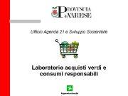 Ufficio Agenda 21 e Sviluppo Sostenibile Laboratorio acquisti