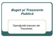 Buget şi Trezorerie Publică Operaţiunile bancare ale Trezoreriei