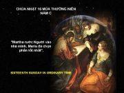 CHÚA NHẬT 16 MÙA THƯỜNG NIÊN NĂM C