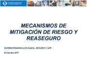 MECANISMOS DE MITIGACIÓN DE RIESGO Y REASEGURO SUPERINTENDENCIA