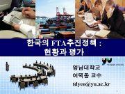 한국의 FTA추진정책 현황과 평가 영남대학교 여택동 교수