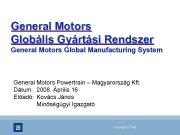 General Motors Globális Gyártási Rendszer General Motors Global