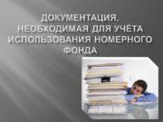 Документация, необходимая для учёта использования номерного фонда Ведомость