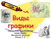Виды графики Учитель ИЗО МОУ лицей №5 города