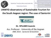 Εργαστήριο Τοπικής και Νησιωτικής Ανάπτυξης Πανεπιστήμιο Αιγαίου UNWTO