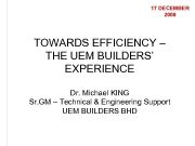 17 DECEMBER 2008 TOWARDS EFFICIENCY THE UEM