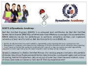 RHCE Sysadmin Academy Red Hat Certified Engineer