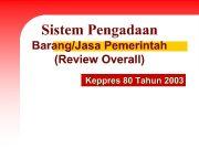 Sistem Pengadaan Barang Jasa Pemerintah Created by Ikak GP