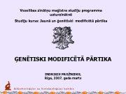 Veselības zinātņu maģistra studiju programma uzturzinātnē Studiju kurss