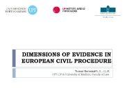 DIMENSIONS OF EVIDENCE IN EUROPEAN CIVIL PROCEDURE Tomaž