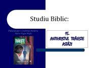 Studiu Biblic 15 ANTIHRISTUL TRĂIESTE ASTĂZI Introducere