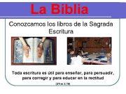 La Biblia Conozcamos libros de la Sagrada Escritura