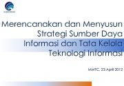 KEMKOMINFO Merencanakan dan Menyusun Strategi Sumber Daya Informasi