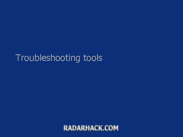 Troubleshooting tools What is fw monitor command