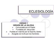ECLESIOLOGÍA UNIDAD 1 ORIGEN DE LA IGLESIA l