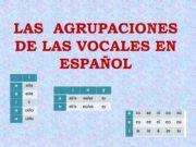 LAS AGRUPACIONES DE LAS VOCALES EN ESPAÑOL CLASIFICACIÓN