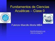Fundamentos de Ciencias Acuáticas Clase 0 Fabrizio