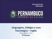 Linguagens Códigos e suas Tecnologias Inglês