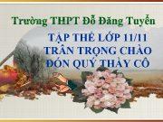 Trường THPT Đỗ Đăng Tuyển TẬP THỂ LỚP
