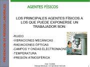 PREVENCION DE RIESGOS LABORALES AGENTES FÍSICOS LOS PRINCIPALES
