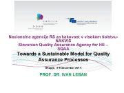 Nacionalna agencija RS za kakovost v visokem šolstvu-