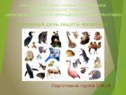Всемирный день защиты животных Подготовила группа 1 ПИ-16