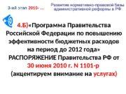 4. Б) «Программа Правительства Российской Федерации по повышению
