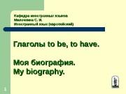 11 Кафедра иностранных языков Милочкина С. И. Иностранный