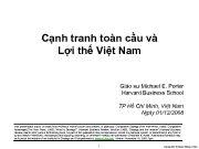 Cạnh tranh toàn cầu và Lợi thế Việt